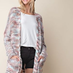 Long Sleeve Cardigan Sweater - Muli- Color
